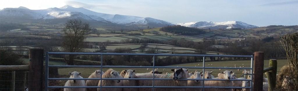 Brecon Beacons winter snow