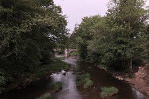 Usk river Abercamlais