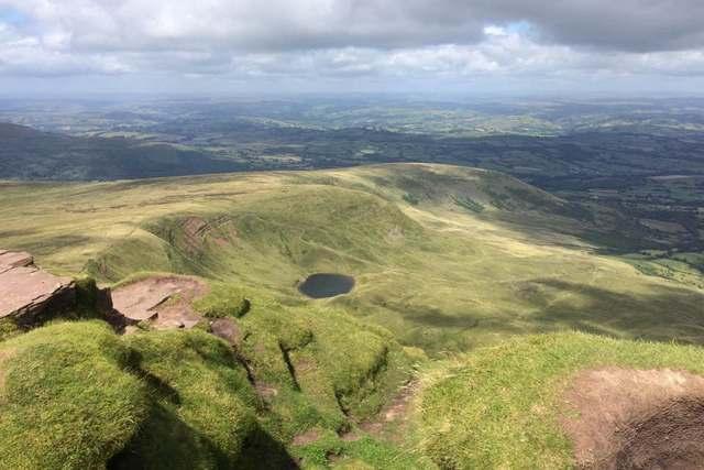 Cwm Llwch Lake below Pen Y Fan
