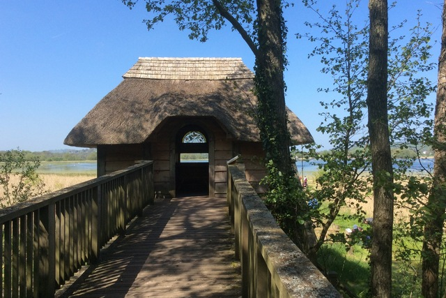 The beautiful bird hide at Llangorse Lake