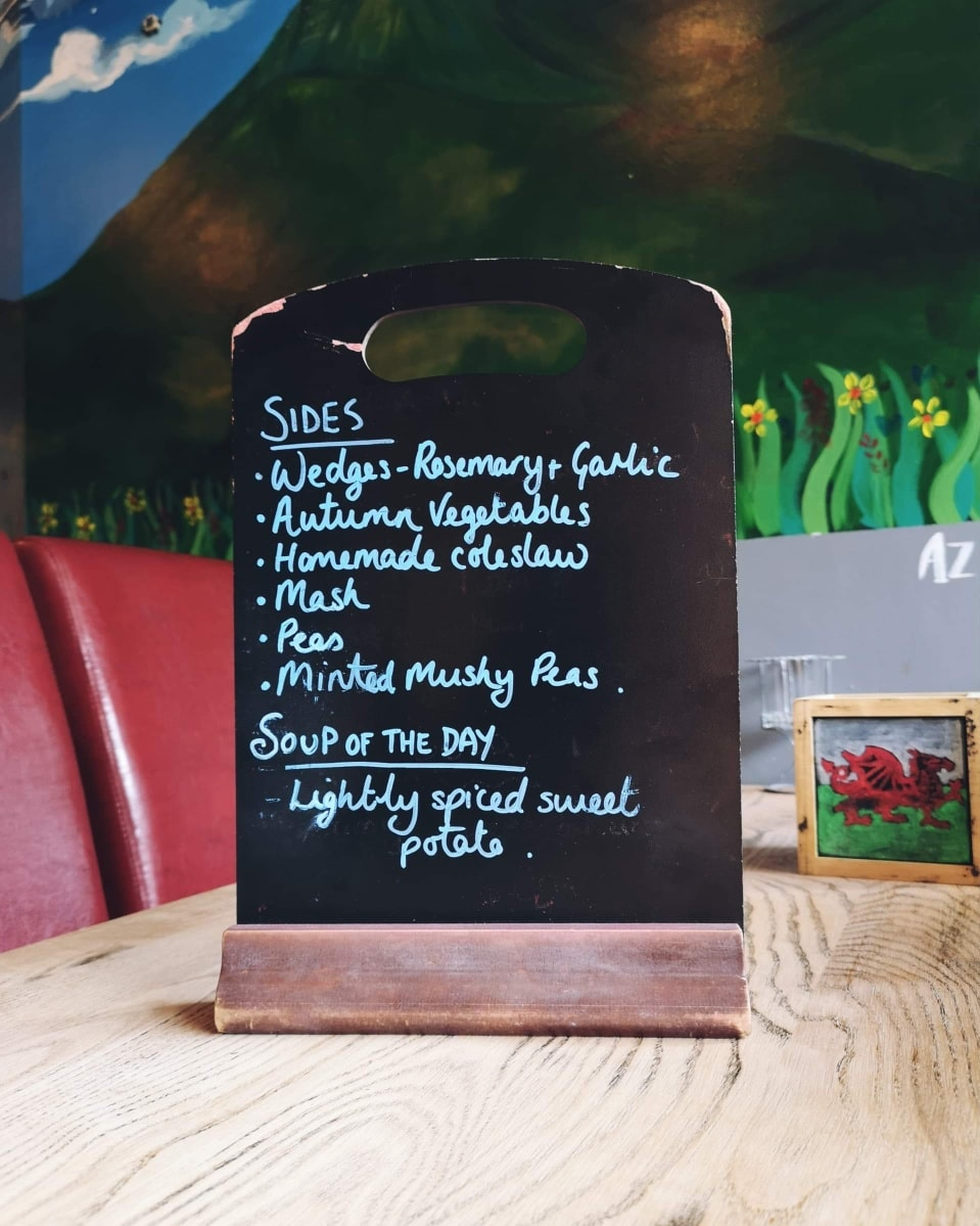 Menu Brecon Tap